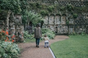 Mother and daughter at Norwich Plantation Gardens.