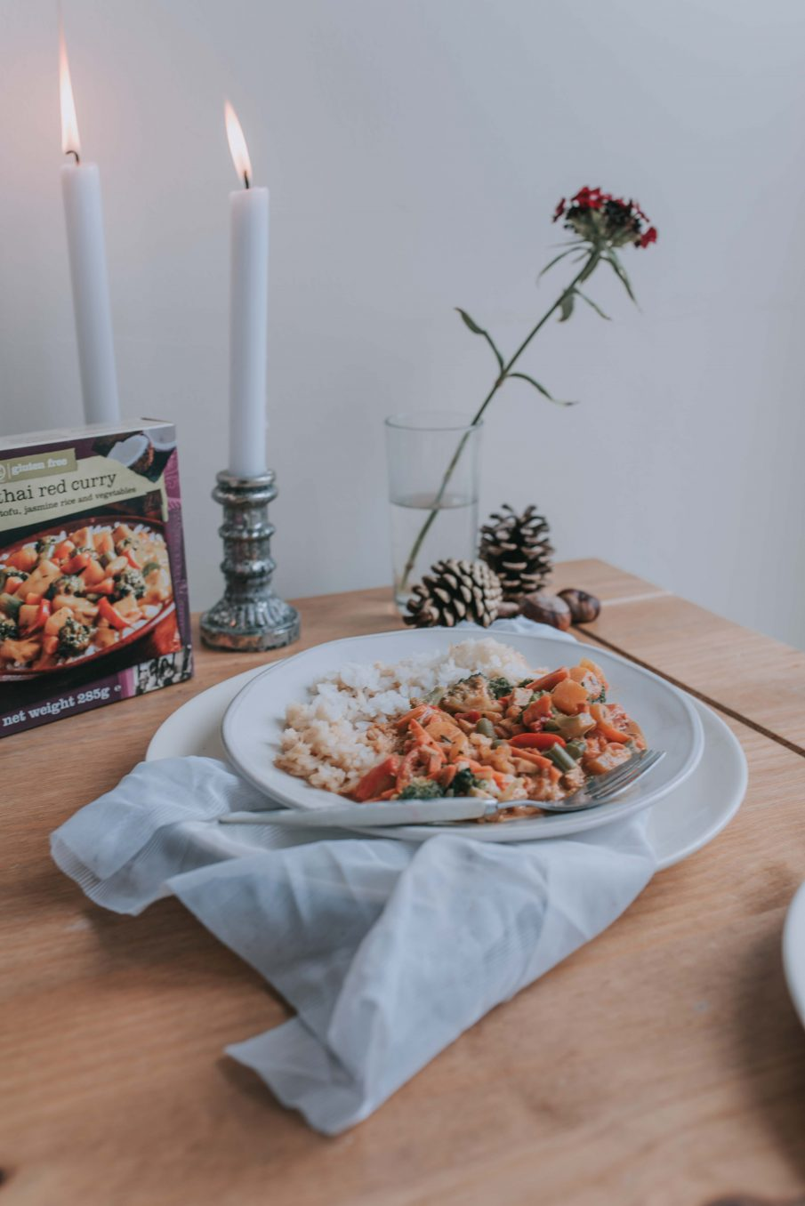 Garlic and Thyme Flatbreads Recipe with Amy's Kitchen Thai Red Curry Ready Meal