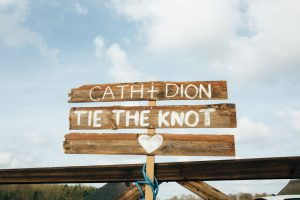 barn wedding diy cath and dion tie the knot sign homemade